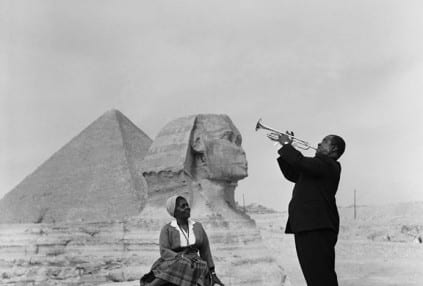 Louis Armstrong plays for Lucille at the Sphinx