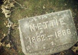 old gravestone Nettie