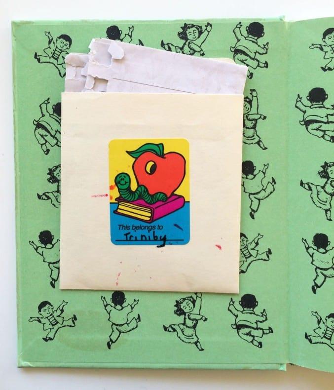 children's book pocket envelope close