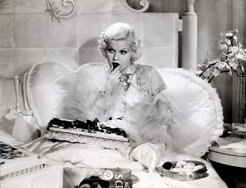 jean harlow eating chocolates Dinner at Eight