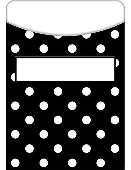 library card pocket polka dot