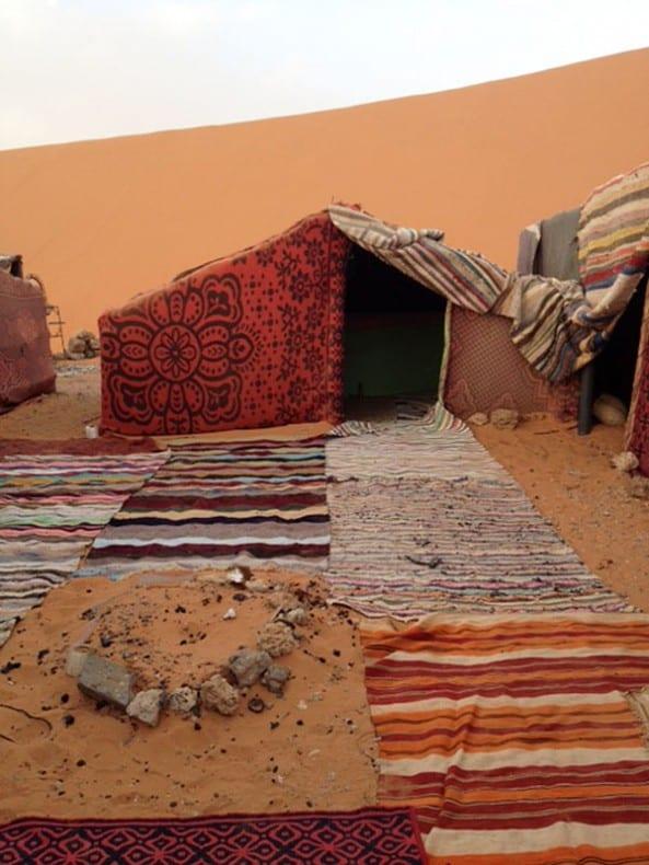 Berber rug tent tinyhouseblog.com