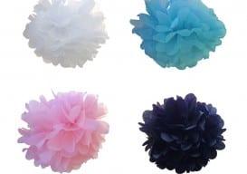 pom poms in colors