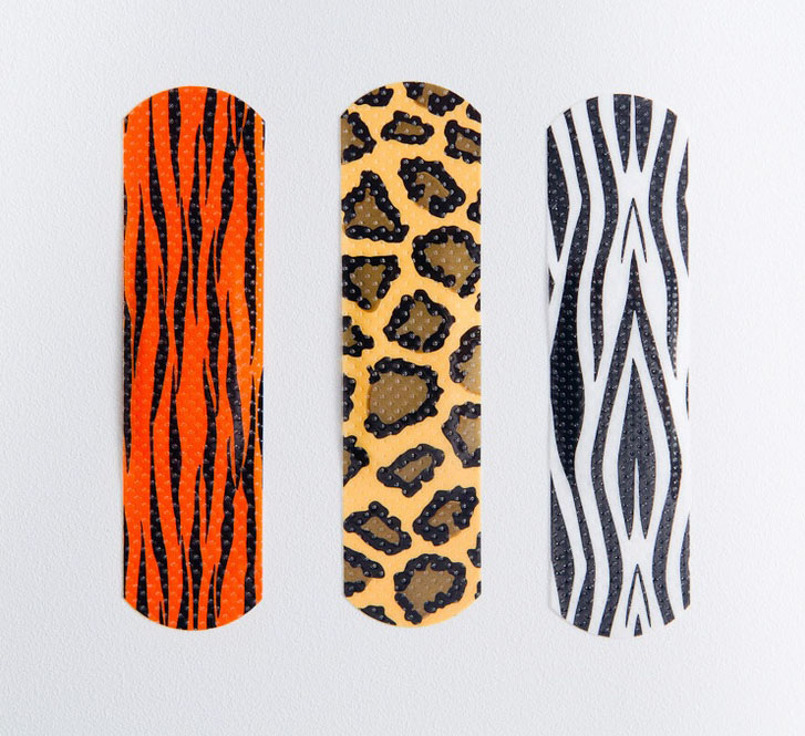 animal print bandaids