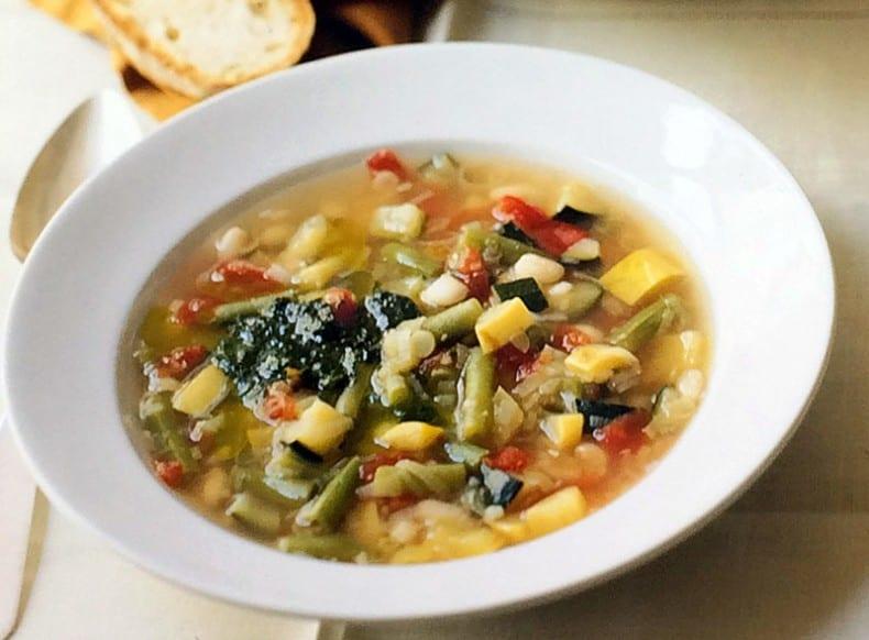 soup of leftover vegetables