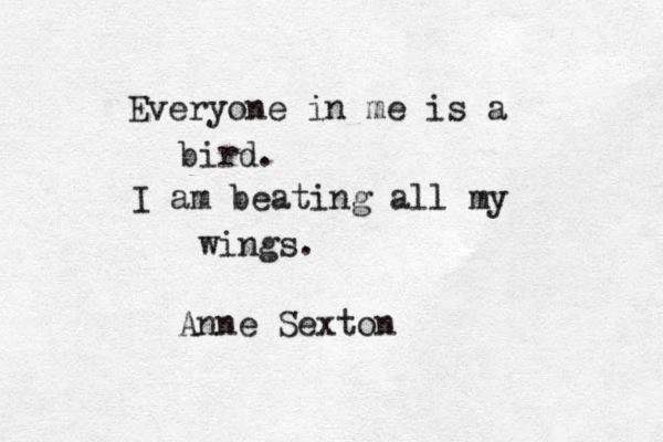 bird poem anne sexton