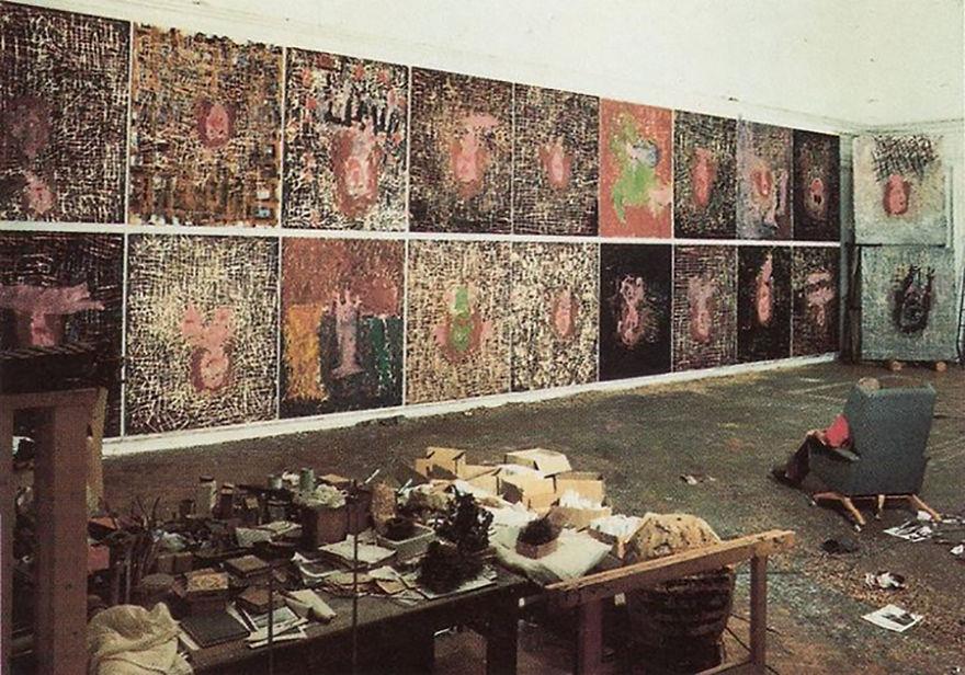 George Baselitz studio
