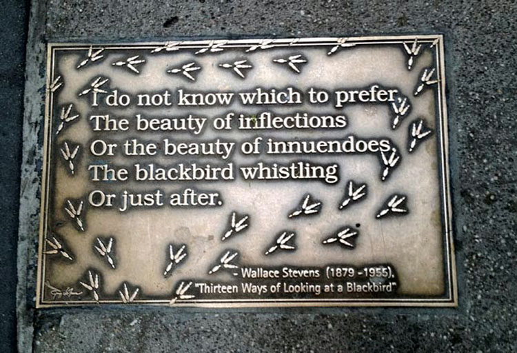 Wallace Stevens NYPL plaque