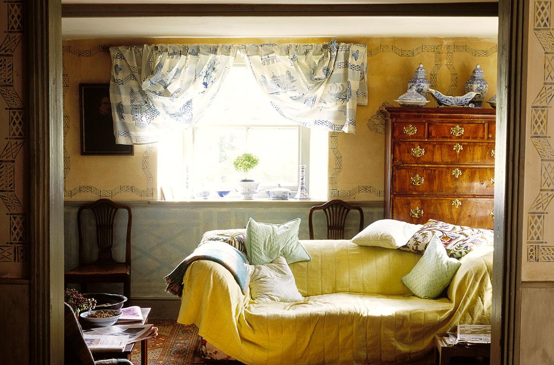 draped sofa Christopher Baker