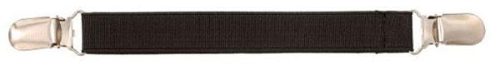 plain black elastic clothing clip