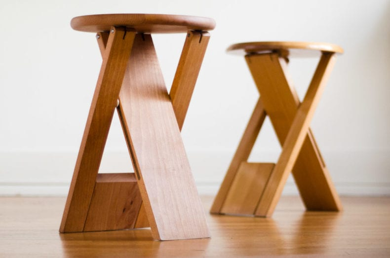 Roger Tallon folding stool underside