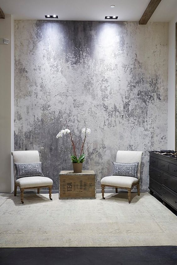 silvery plaster