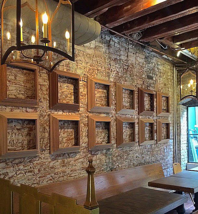 scraped brick wall chai wali harlembespoke.blogspot.com