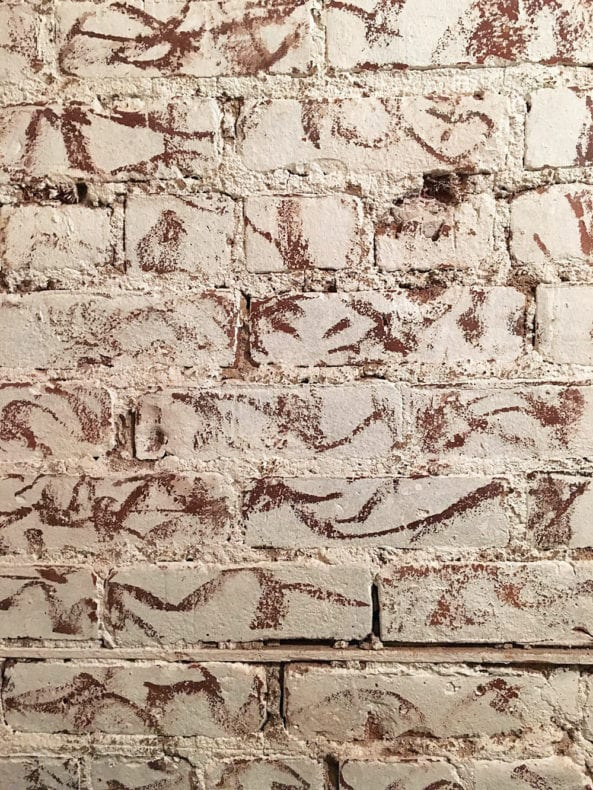 scraped brick wall chaiwali 2