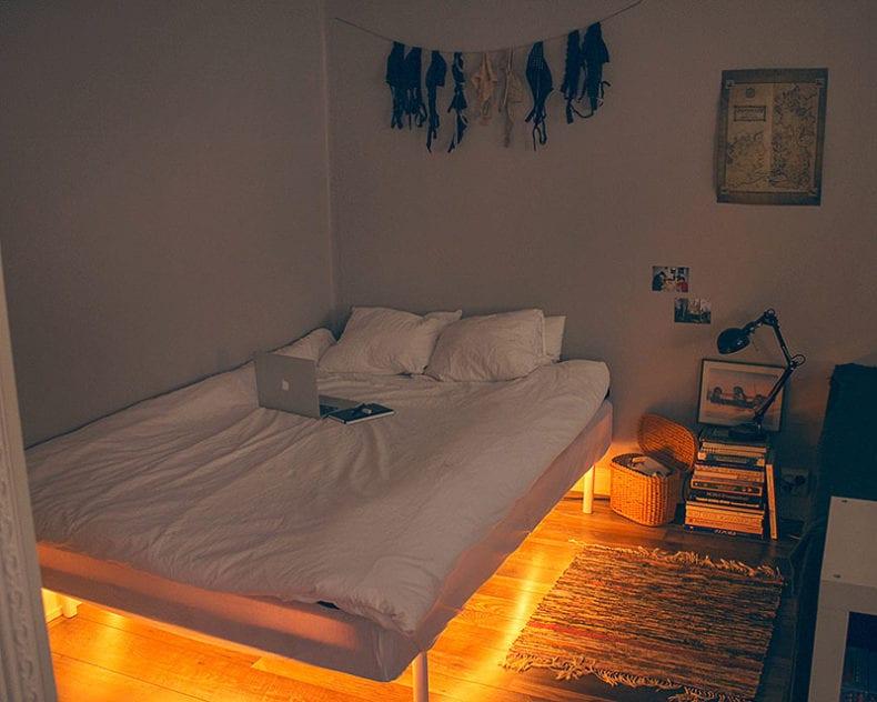 lighted furniture bed via Ocean Vuong