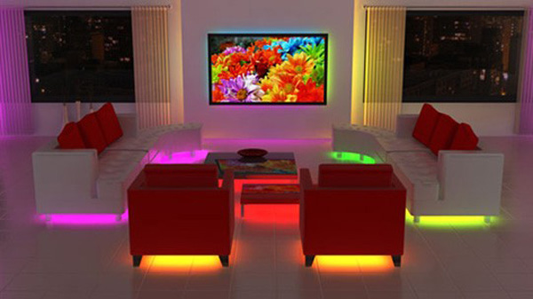 lighted furnture chairs w colors