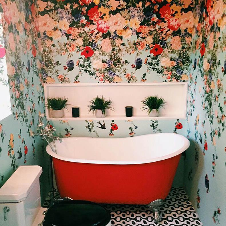 ocean vuong bathtub with flowers 0