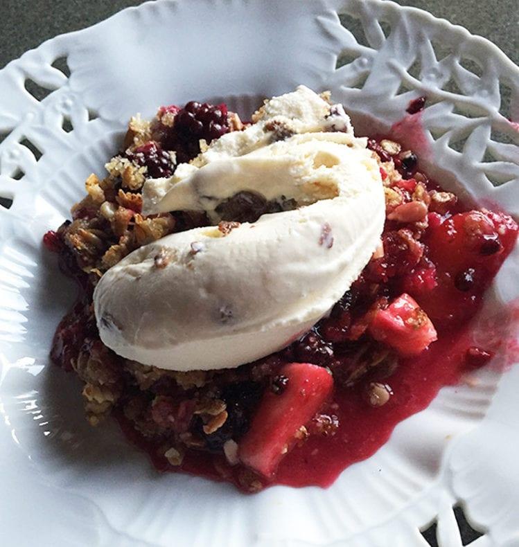blackberry crumble w ice cream Susan Dworski
