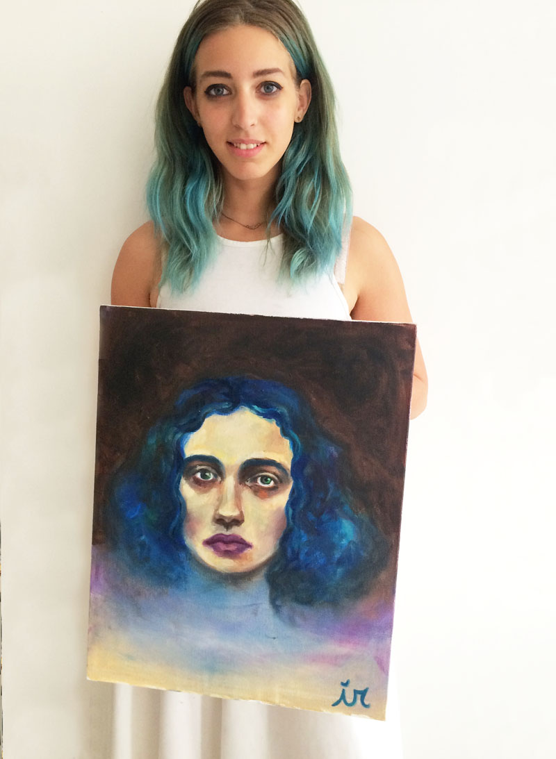mira-with-isabel-painting